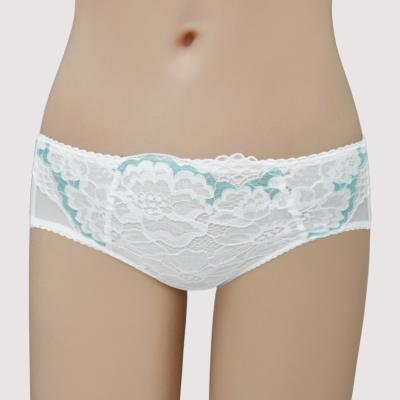 曼黛瑪璉-Hibra大波-低腰寬邊三角萊克褲-牙白