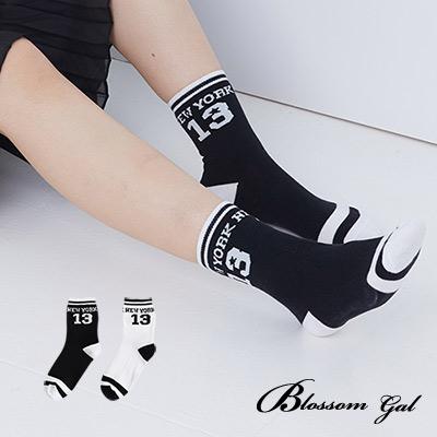 Blossom Gal 紐約13號NEW YORK 造型短襪2入(共2色)