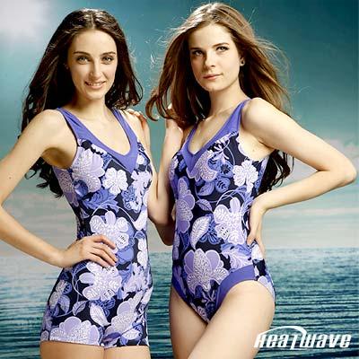 Heatwave 健泳系-藍洋之花 萊克連身泳裝