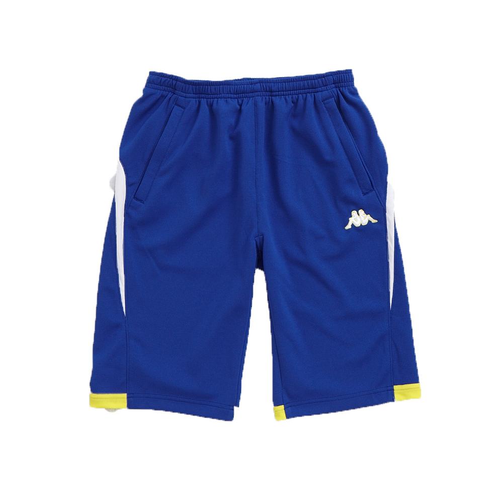 KAPPA義大利舒適時尚小朋友吸溼排汗針織半短褲 科技藍