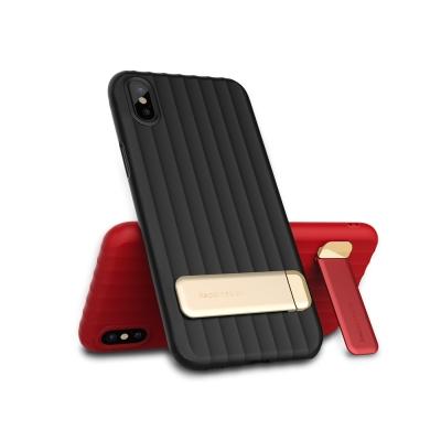 銳思Recci DUKE名系列 蘋果iPhone X波浪紋鋅合金立架保護殼
