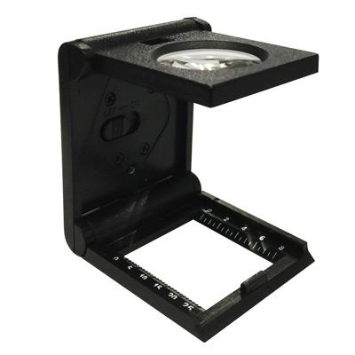 三折疊LED輔助附刻度尺5倍放大鏡看布鏡
