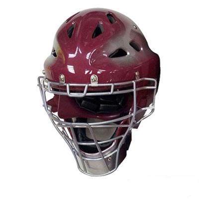 【ZETT】少年捕手連罩式頭盔(紅色)