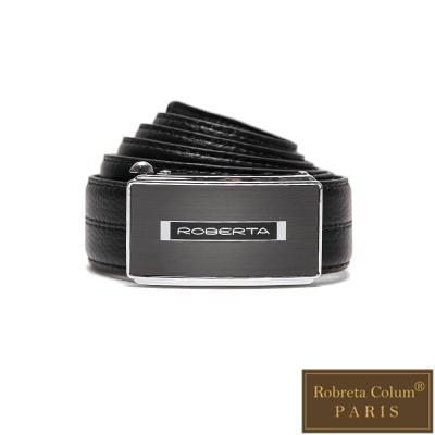 Roberta Colum - 紳士們尊爵碳纖自動金屬滑扣牛皮皮帶