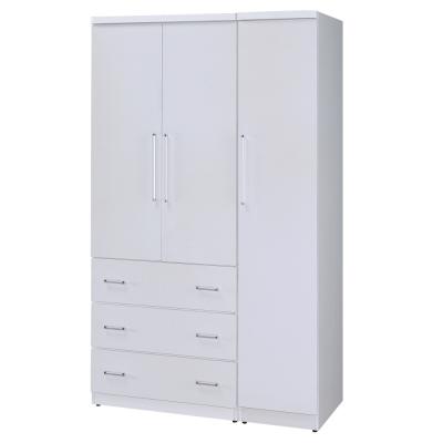 Homelike 艾斯4x7衣櫃(四色可選)-115x54x198cm