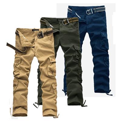 美國熊 立體感多口袋 紮實水洗面料 八袋款工作褲