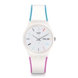 Swatch 田園風情系列 EDGYLINE 夏日粉嫩手錶
