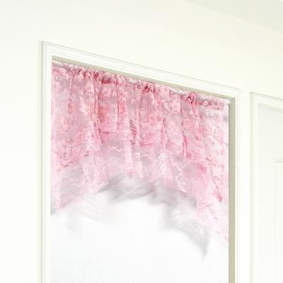 布安於室-粉色拱型簾-寬122x高54cm