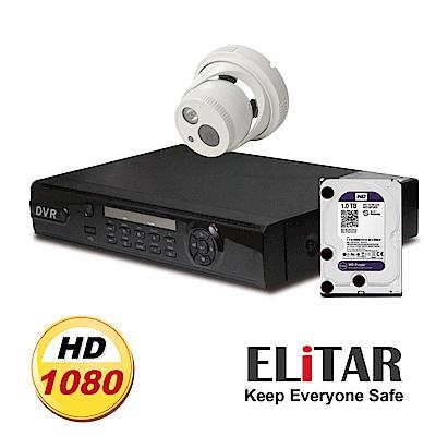 Elitar4路監控主機Sony單鏡頭WD1TB組