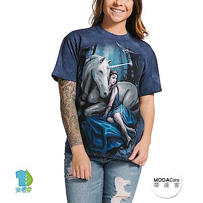 摩達客 美國進口The Mountain 獨角獸女神 純棉環保短袖T恤