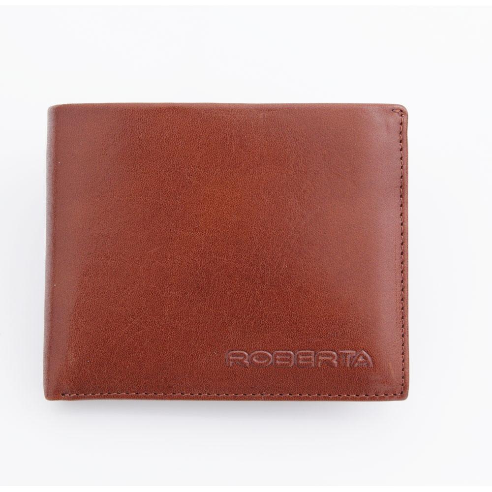 Roberta Colum - 原皮質感簡約子母夾相片零錢短夾(10卡3照可拆式上下翻)