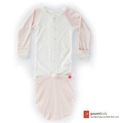 美國 GOUMIKIDS 有機棉嬰兒睡袍 (魔法森林-橘色)