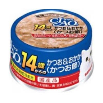 CIAO 特齡罐14歲52號《鰹魚+柴魚片》 75g