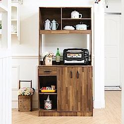 澄境 輕工業居家大收納餐櫥櫃90X40X180cm-DIY