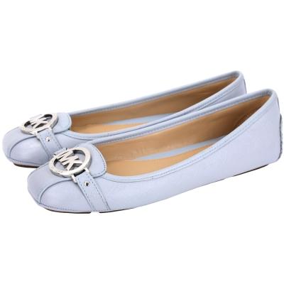 Michael Kors 防刮牛皮休閒平底鞋(灰藍色)
