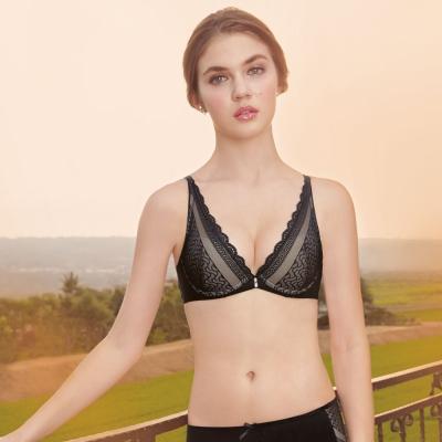 曼黛瑪璉 15AW-V極線內衣  B-E罩杯 (黑)