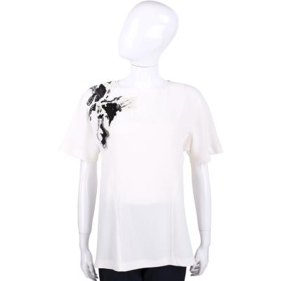 PHILOSOPHY 米白色亮片綴飾短袖上衣