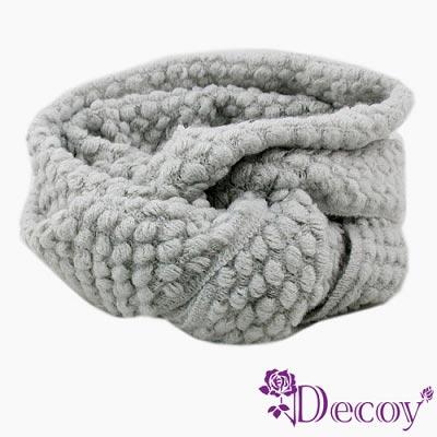 【Decoy】純色時尚*點點圍脖套/灰