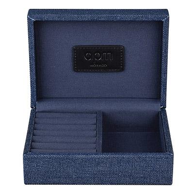 apm MONACO牛仔布翻蓋飾品首飾盒(小)