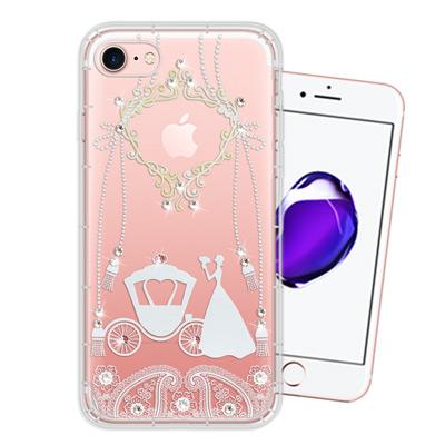 WT iPhone 8/iPhone 7 奧地利水晶彩繪空壓手機殼(精靈捧花)