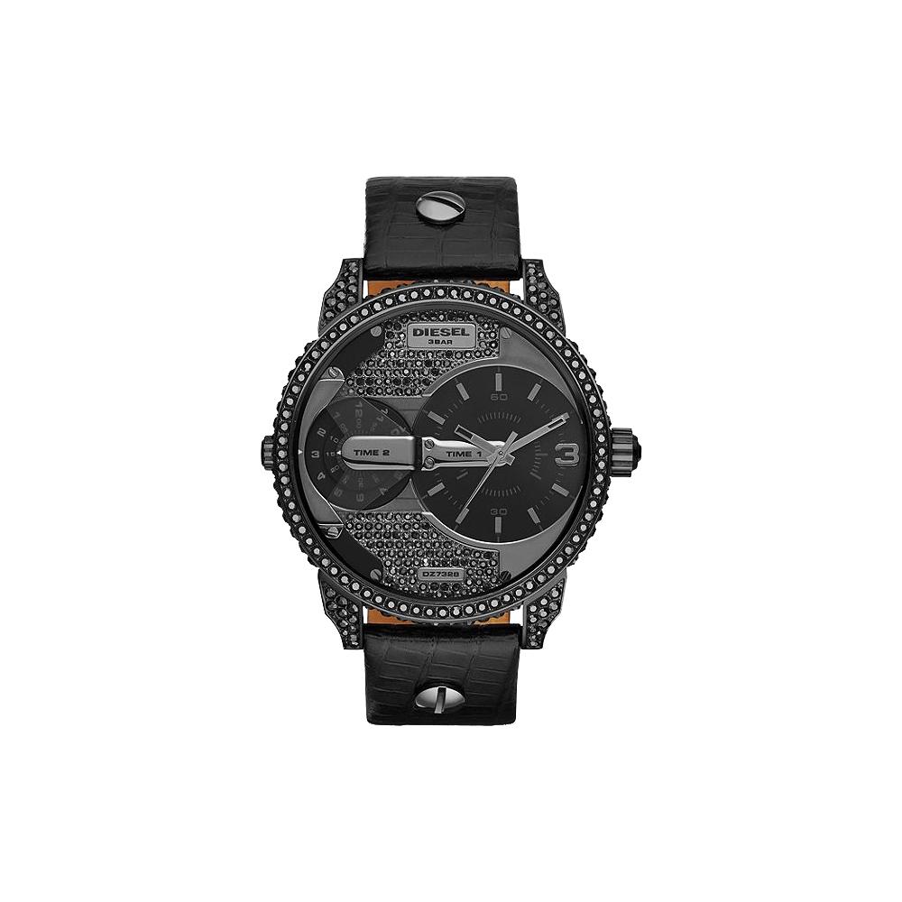 DIESEL 龐克黑勢力腕錶-黑/46mm @ Y!購物