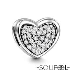 SOUFEEL索菲爾 925純銀珠飾 心靈深處(白) 串珠