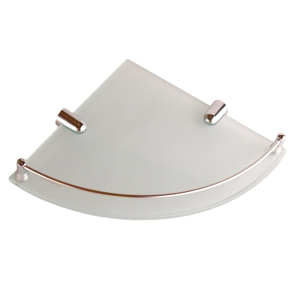 I-Bath 衛浴配件-角落專用玻璃平台架(有框)25cm