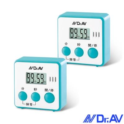 Dr.AV 日式炫彩方型倒時器/2入(TM-A45)