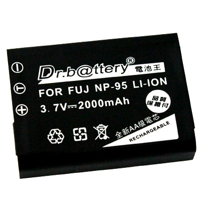 電池王 Fujifilm NP-95 高容量鋰電池