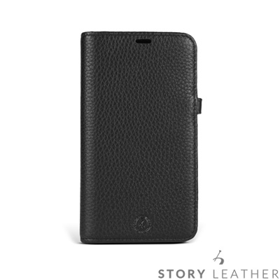 STORYLEATHER iPhone X 筆記本款硬殼 荔枝紋黑現貨皮套