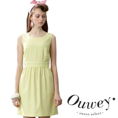 OUWEY歐薇 甜美糖果抓摺背心洋裝