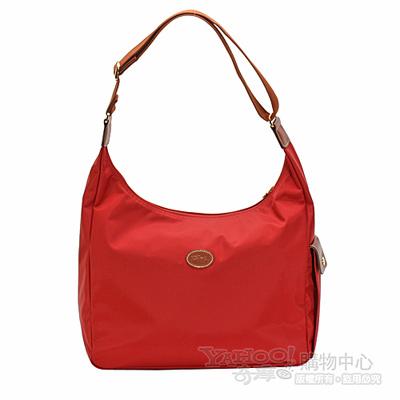 Longchamp 豔彩繽紛大斜背包(紅色)