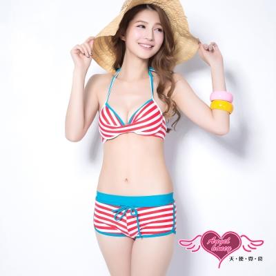 天使霓裳 甜美夏季 二件式比基尼鋼圈泳衣(紅M~XL)