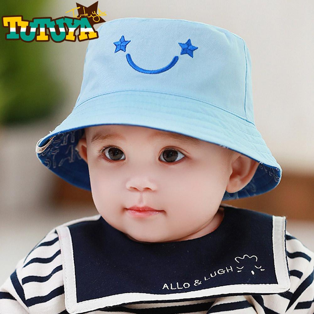 韓版 星星微笑 兒童翻面二用帽
