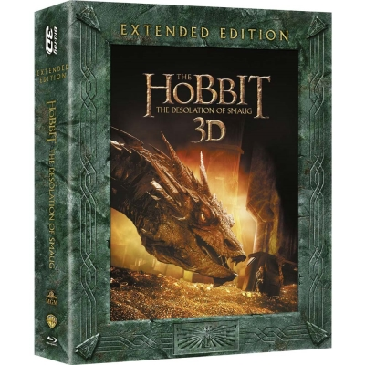 哈比人:荒谷惡龍 3D+2D 五碟裝導演加長版 藍光BD