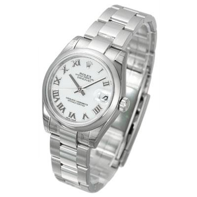ROLEX 勞力士 Datejust 178240 蠔式恆動日誌型腕錶-白/羅馬時標/31mm
