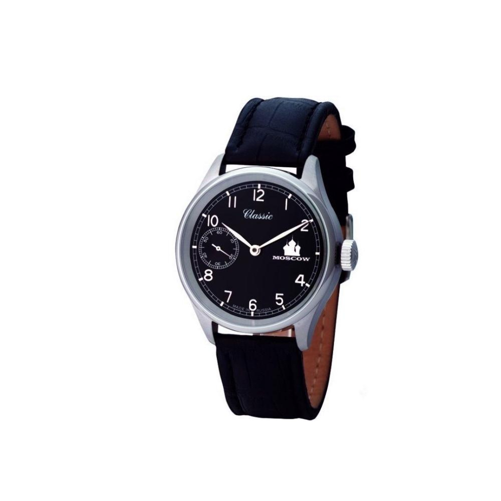 MOSCOW CLASSIC 俄羅斯風華小秒針鐵道腕錶-黑/42mm