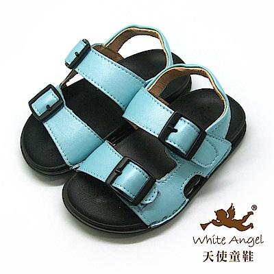 天使童鞋 馬卡龍輕巧穿涼鞋(小童)C295-藍