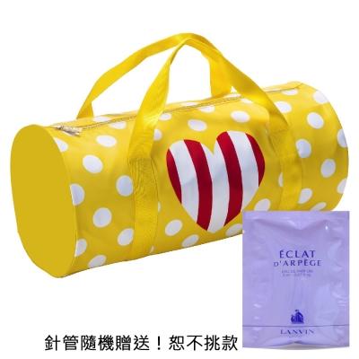 MOSCHINO 點點愛心旅行袋+隨機針管香水1入