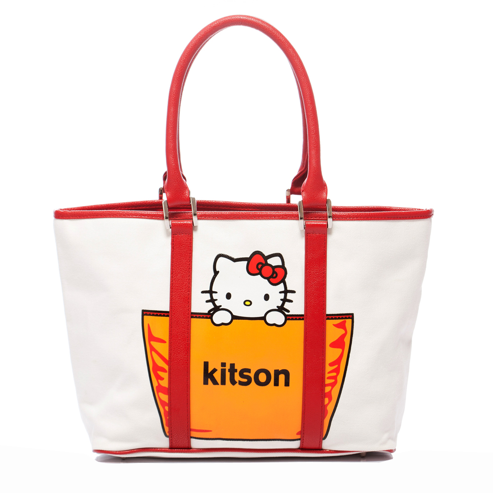 kitson x Kitty - RED edition 聯名系列 Tote (白)