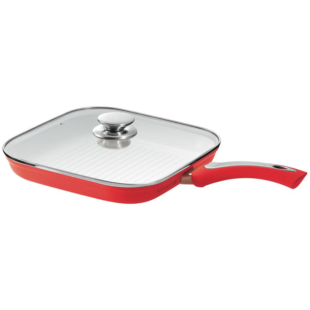 KEVNHAUN 陶瓷不沾方型烤魚鍋26CM(紅色)