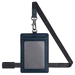 MONDAINE 瑞士國鐵牛皮安全扣證件套-直式/藍