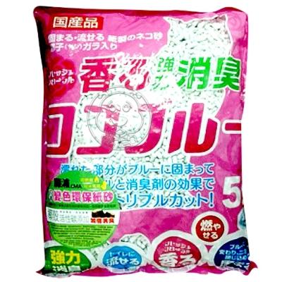 日本藤浦椰殼活性碳變色紙砂5L粉紅包裝(花香)*3包