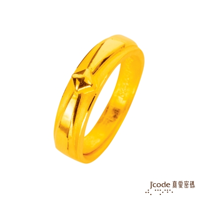 J'code真愛密碼 繫住愛情黃金男戒指