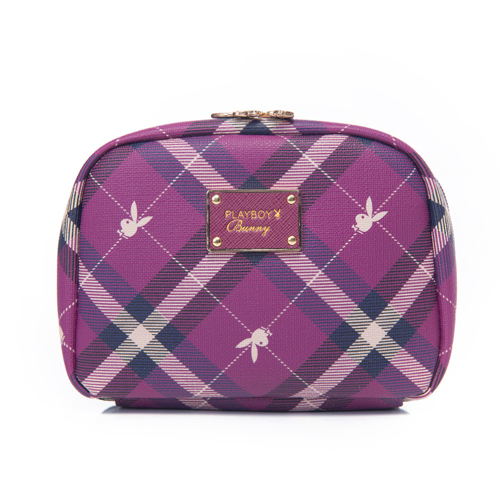 PLAYBOY-Apple蘋果兔系列化妝包-紫莓紅