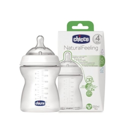 CHICCO 天然母感2倍防脹PP奶瓶一字孔(流量控制)250ML
