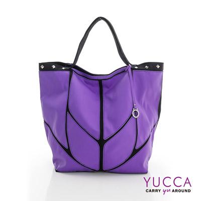 YUCCA - 幾何防水尼龍托特包-紫色 1308507