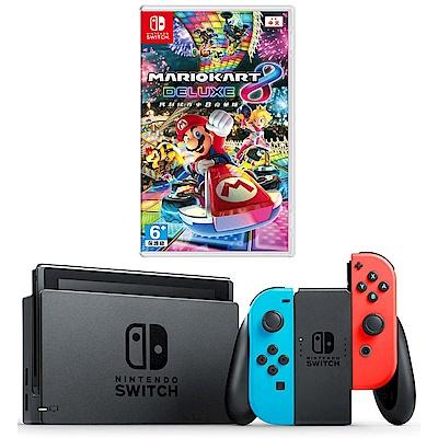 任天堂Nintendo Switch-電光藍/紅 Joy-Con(馬力歐賽車)