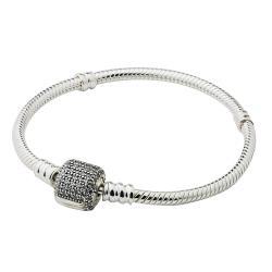 Pandora 潘朵拉 鋯石扣頭純銀手鍊