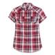 Hang Ten - 女裝 - 休閒府綢格紋襯衫 - 紅 product thumbnail 1